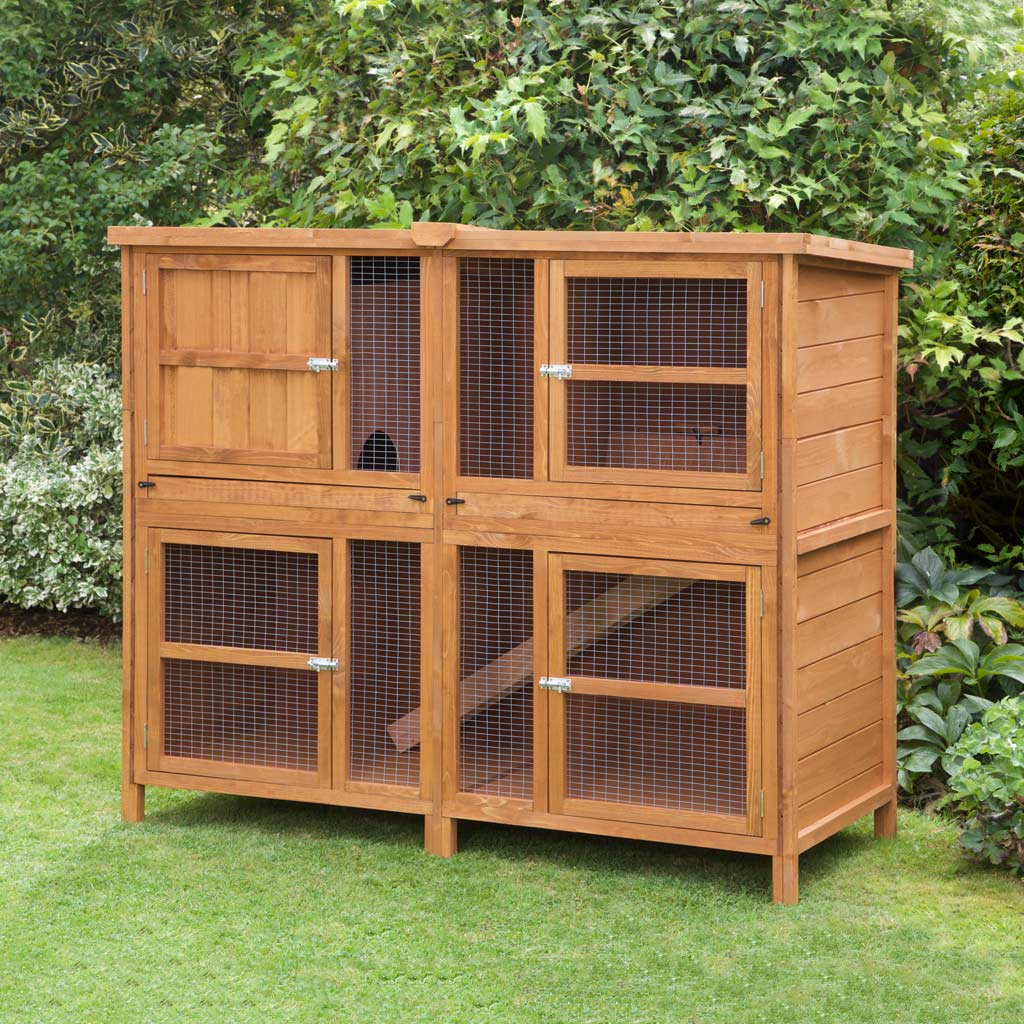 new ecoflex beds hutch townhouse age huntington pet rabbit p x cages hutches ft