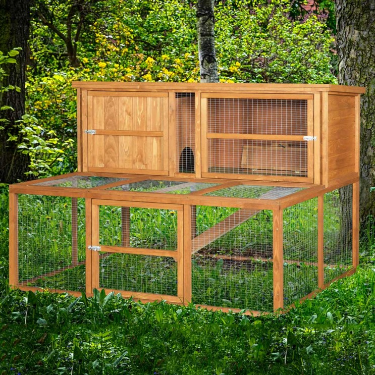 Home roost 5ft kendal luxury rabbit hutch and run combo for 5 foot rabbit hutch