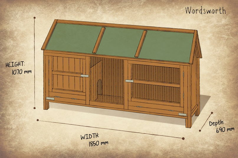 Home and roost extra large rabbit hutch deluxe rabbit for Extra large rabbit cage
