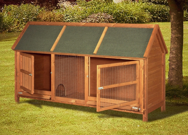home roost wordsworth extra large rabbit hutch