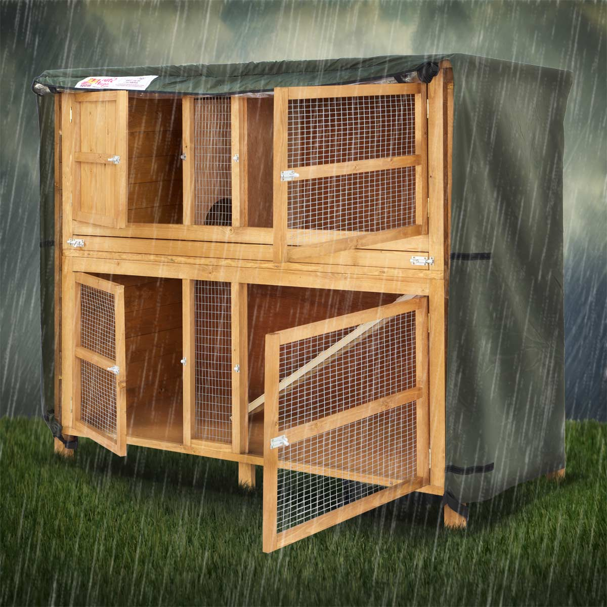 Home Amp Roost 5ft Chartwell Double Hutch Hugger
