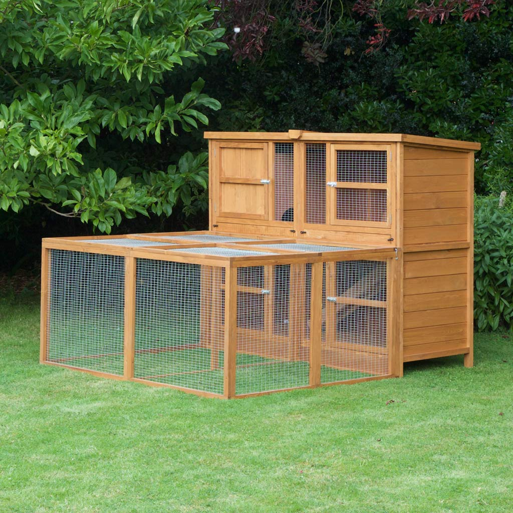 Home & Roost | 6ft Chartwell Double Rabbit Hutch Rated No1 By Customers
