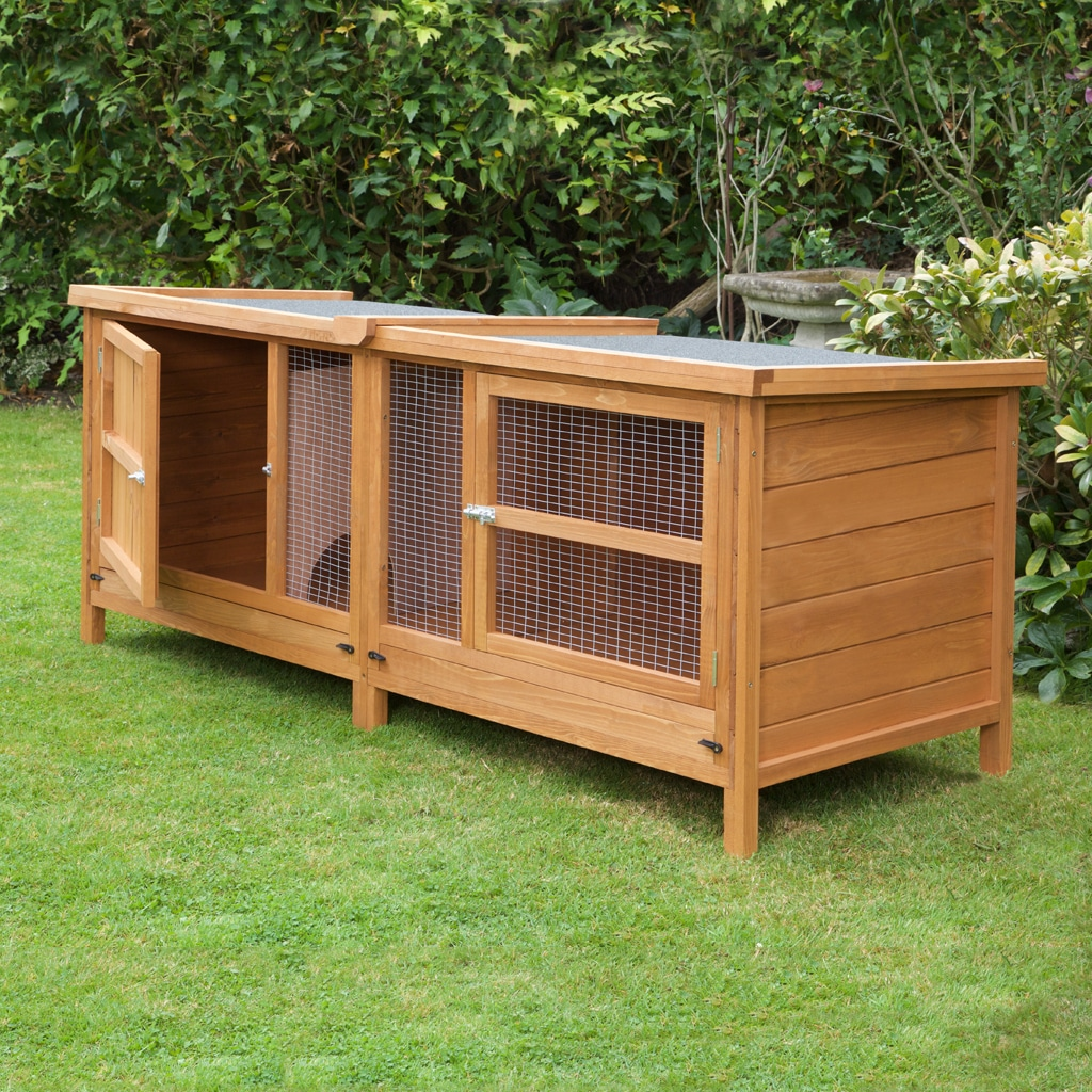 Home roost 6ft chartwell single luxury rabbit hutch for Rabbit house images