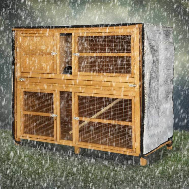 Scratch and newton hutch snuggle insulated hutch cover for How to make a rabbit hutch from scratch
