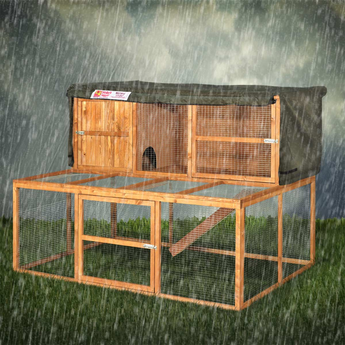 Home roost 5ft kendal rabbit hutch hugger for How to make a rabbit hutch from scratch