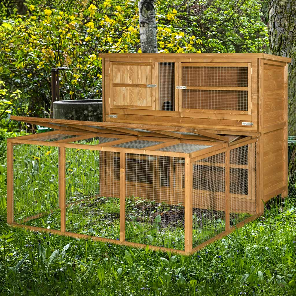 Home Amp Roost 5ft Chartwell Double Luxury Rabbit Hutch