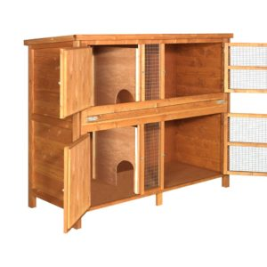 5 Foot 2 Tier Rabbit Hutch