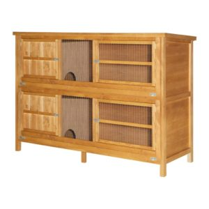 6 Foot 2 Tier Rabbit Hutch