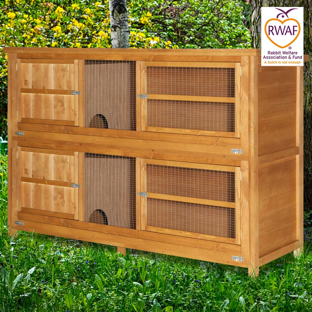 Home roost 6ft chartwell 2 tier rabbit hutch for for 2 rabbit hutch