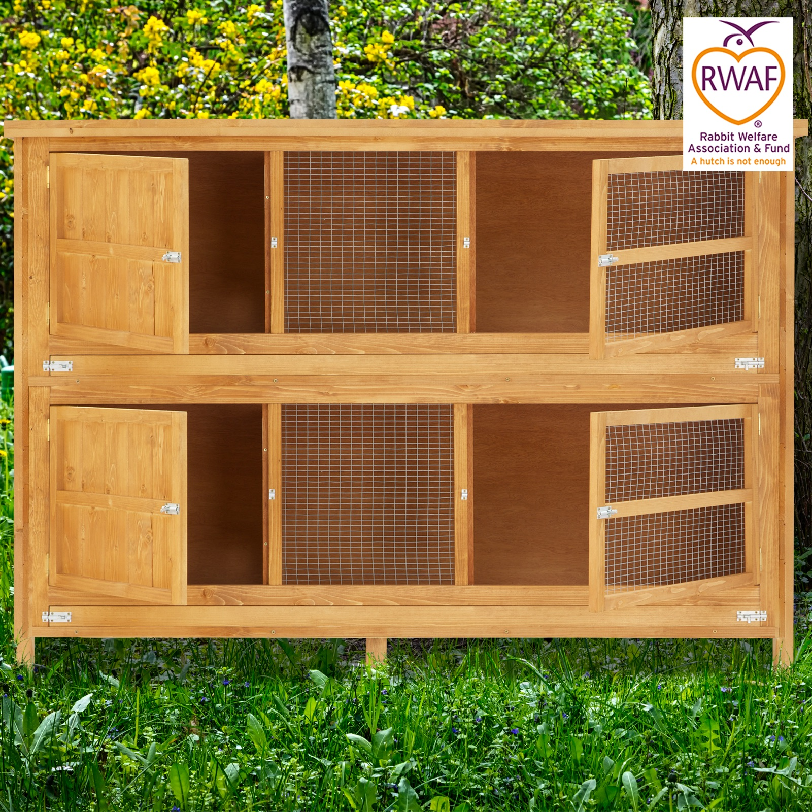 Home Amp Roost 6ft Chartwell 2 Tier Rabbit Hutch For