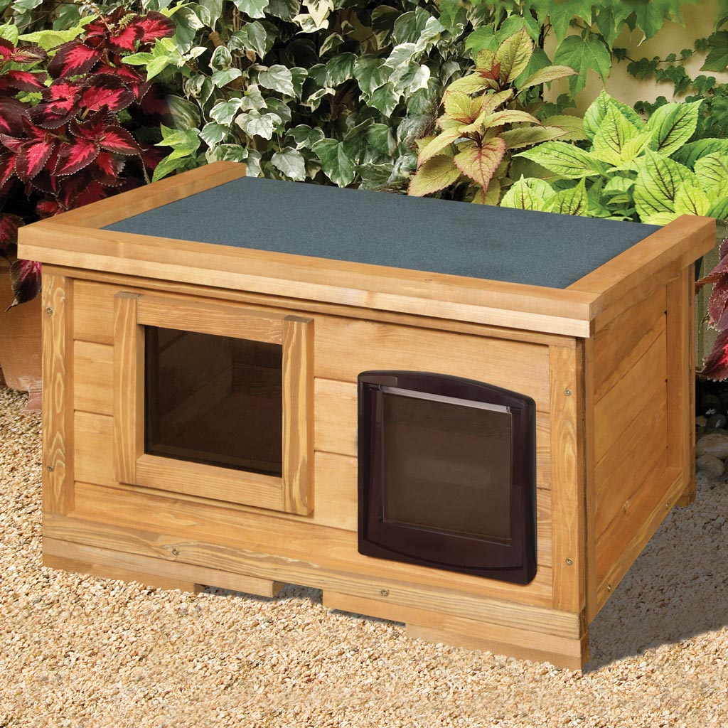 Home Amp Roost External Self Heating Outdoor Cat House