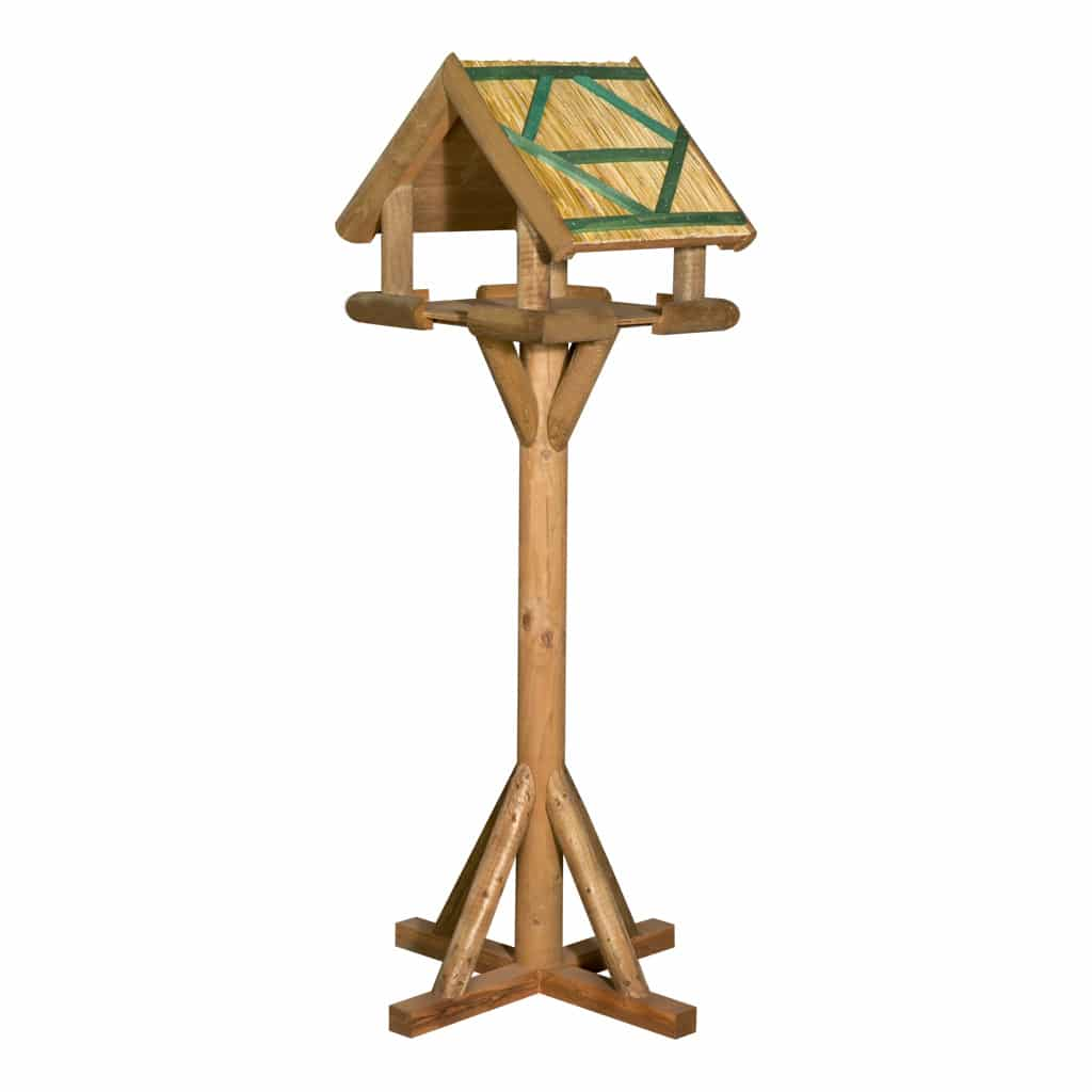 Rustic Luxury Thatched Bird Table
