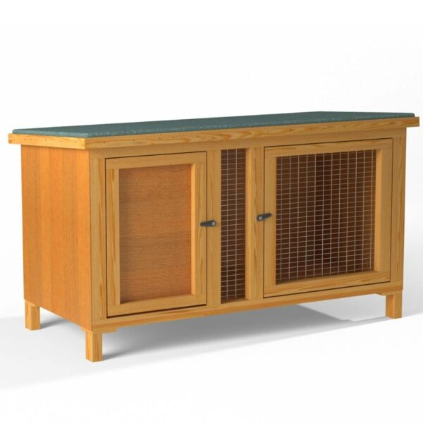 Small Pet Hutch 3ft 4ft With Legs Diagonal