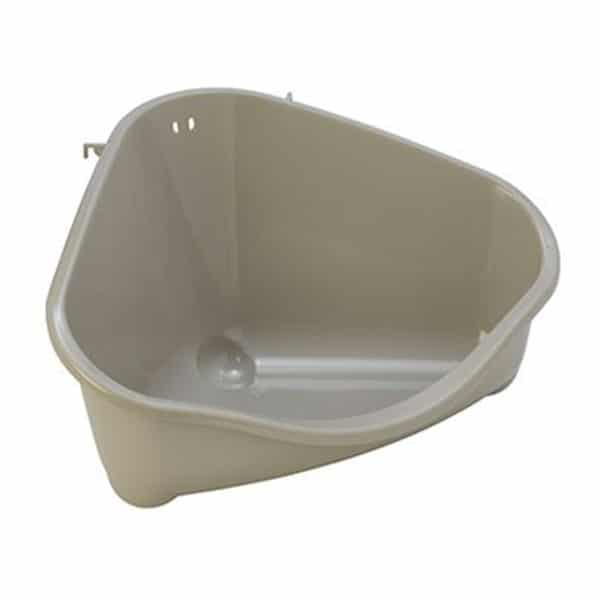 moderna corner small pet litter tray gray
