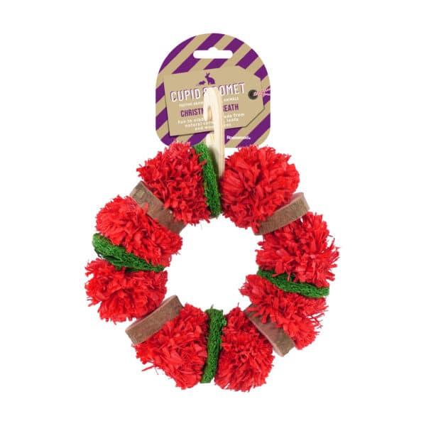 Cupid & Comet Christmas Wreath